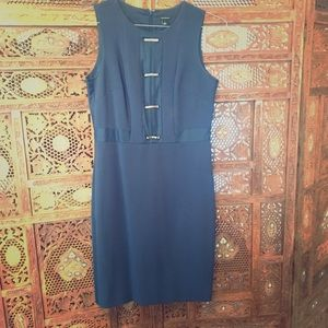 Navy Fitted Dress